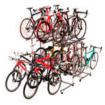 Shop displays for 15 bicycles, 2 levels